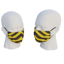 uk made face mask yellow and black design