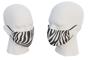 uk made face mask with zebra design