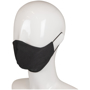 Triple Layer Cotton Face Mask in black