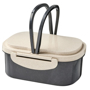 Wheat Straw Fibre Lunch Box in black and natural