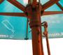 wooden parasol inside frame