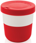 Individually Personalised Coffee Cup in red and white