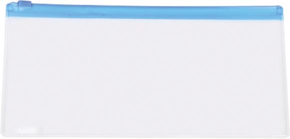 Transparent Pencil Case with blue trim