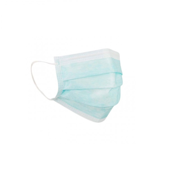 3 Ply Disposable Face Mask in blue and white