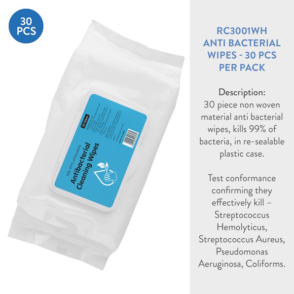 Picture of Antibacterial Hand Wipes  30