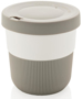 Individually Personalised Coffee Cup in grey and white