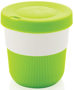 Individually Personalised Coffee Cup in green and white