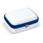 Lunch Box in white with blue trim