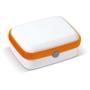 Lunch Box in white with orange trim