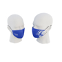 Premier 3ply Face Mask in blue with 1 colour print showing both side views