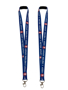 Socially Distanced Lanyards in blue with 2 colour print