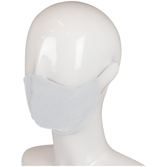 Triple Layer Cotton Face Mask in white