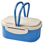 Wheat Straw Fibre Lunch Box in blue and natural