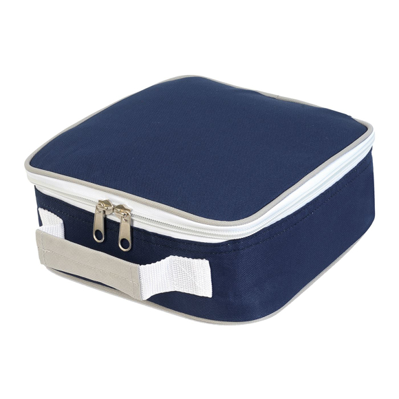 Cooler Lunch Box Bag in navy and white