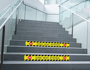 Social Distancing Stair Graphics on staircase