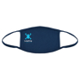 Full Colour Cotton Mask in blue with 3 colour print logo