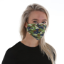 Pre-Shaped Face Mask in camo print being worn