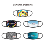 Reusable Dye Sublimation Face Cover in full colour with black trim