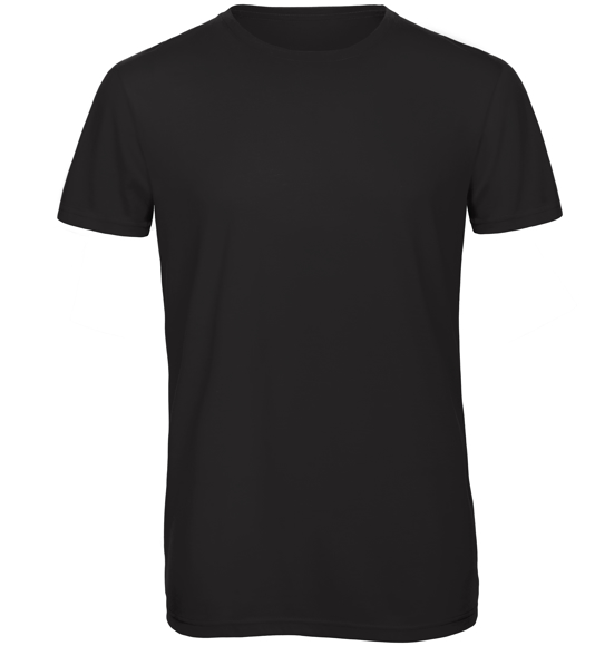 B&C Triblend Men's T-Shirt in black