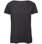 B&C Triblend Women's T-Shirt in dark grey