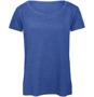 B&C Triblend Women's T-Shirt in blue