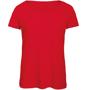 B&C Triblend Women's T-Shirt in red