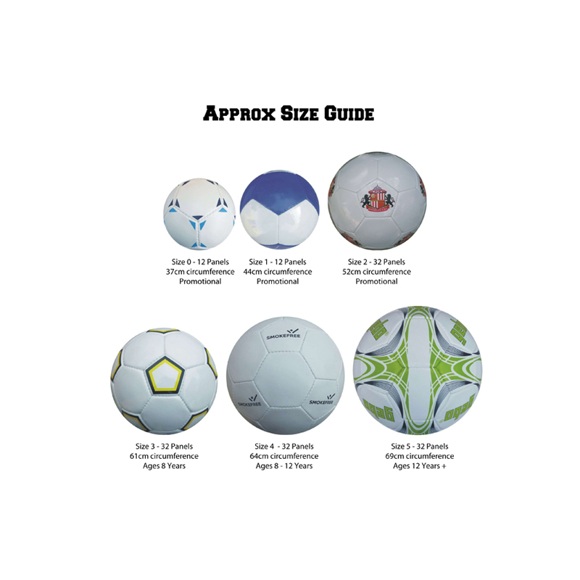 Branded Footballs in different sizes