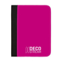 Full Colour A5 Conference Folder in pink and black with 1 colour print