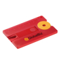 Key Pendant Card 'Anti Tick' in red with 2 colour print logo