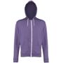Men's Heather Zoodie in purple