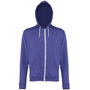 Men's Heather Zoodie in blue