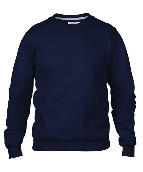 Men's Set-In Sweatshirt in black