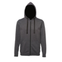 Men's Varsity Hoodie in charcoal with black details and lining