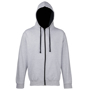 Men's Varsity Hoodie in grey with black details and lining