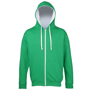 Men's Varsity Hoodie in green with white details and lining