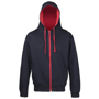 Men's Varsity Hoodie in navy with red details and lining