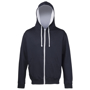 Men's Varsity Hoodie in navy with grey details and lining