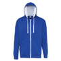 Men's Varsity Hoodie in blue with white details and lining