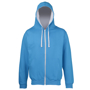 Men's Varsity Hoodie in light blue with grey details and lining