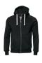 Men's Williamsburg Hooded Sweatshirt in black with white drawstrings