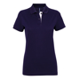 Women's Contrast Polo in navy with white trim