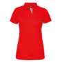 Women's Contrast Polo in red with white trim