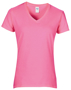 Women's Cotton V Neck T-Shirt in pink