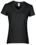 Women's Cotton V Neck T-Shirt in black