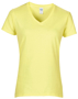 Women's Cotton V Neck T-Shirt in yellow