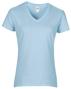 Women's Cotton V Neck T-Shirt in light blue
