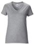 Women's Cotton V Neck T-Shirt in grey