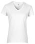 Women's Cotton V Neck T-Shirt in white