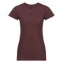 Women's HD T-Shirt in burgundy