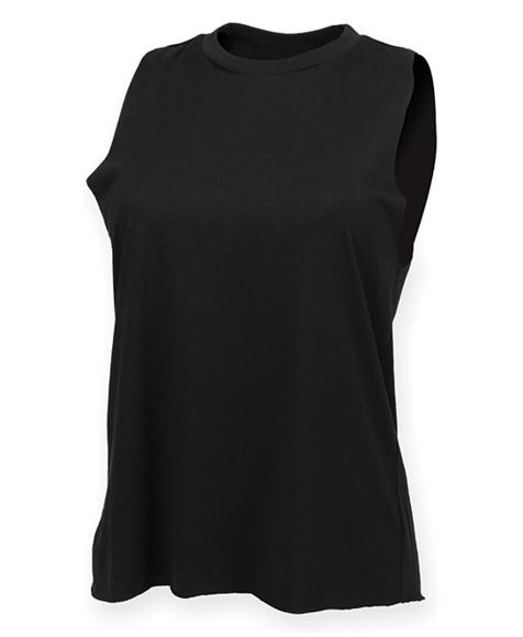Women's High Neck Vest in black